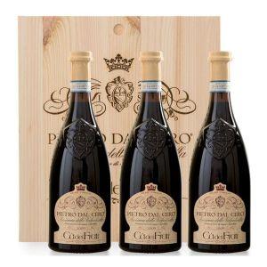 Amarone della Valpolicella DOCG Pietro Dal Cero 2013 3 bottiglie in Cassa legno Originale – Cà dei Frati