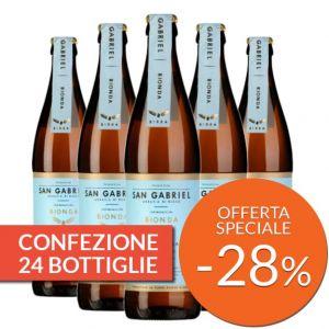 Confezione 24 bottiglie di Birra artigianale Bionda – San Gabriel