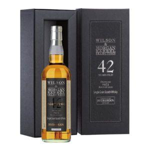 Whisky Single Grain Invergordon 42 anni distillato 1973 imbottigliato 2016 Astucciato - Wilson & Morgan