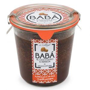 Baba' al Cioccolato e Arancia in Vasocottura - Le Millevoglie Stefano Luraschi