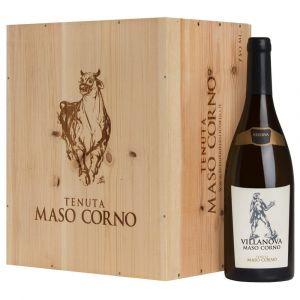 Chardonnay Riserva Trentino DOC Villanova 2017 6 bottiglie in Cassa Legno originale – Maso Corno
