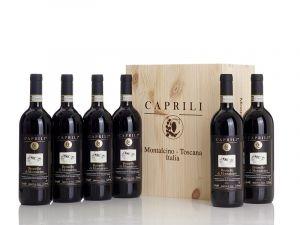 Brunello di Montalcino DOCG 6 bottiglie in Cassa Legno originale – Caprili