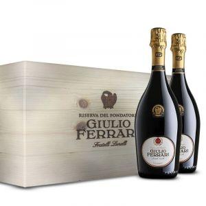 Giulio Ferrari Riserva del Fondatore Trento DOC 2008 6 bottiglie in Cassa Legno Originale – Ferrari