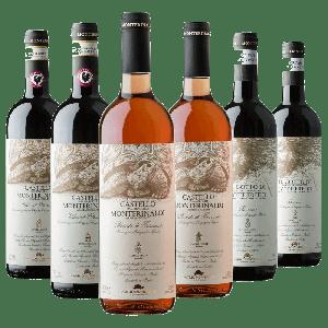 Degustazione 6 bt Toscana - Castello Monterinaldi