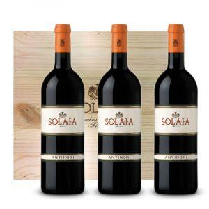 Solaia Toscana IGT 2015 3 bottiglie in Cassa Legno originale – Antinori