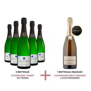 Confezione Selezione Champagne - 5 JM Tissier + 1 Louis Roederer Omaggio